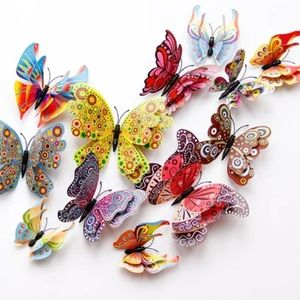 Other - NEW 12pcs Wall 3d Butterfly Nursery Magnet Sticky